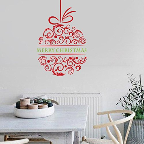 Cheap  Highpot Merry Christmas Window Wall Sticker Wall Decal Decoration Removable Vinyl Sticker
