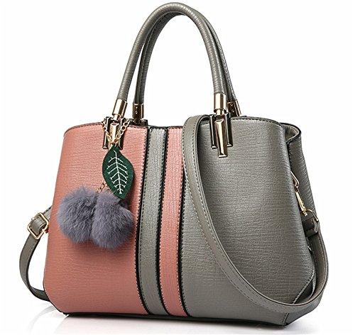 Bolsos de señora Xinmaoyuan Lady Bolsos Bolso de Hombro salvajes simple bolsa bandolera, Rosa Rosa
