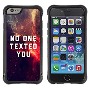 Fuerte Suave TPU GEL Caso Carcasa de Protección Funda para Apple Iphone 6 PLUS 5.5 / Business Style Quote Universe Space Dark Sky