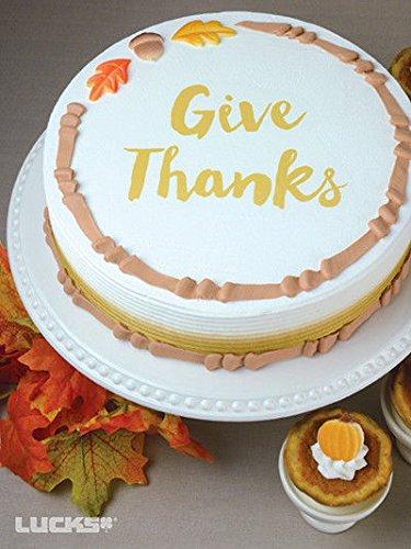 Lucks 210 pc Edible Sugar Decoration Cupcake Cake Dec-Ons Acorns Oak Fall Leaves