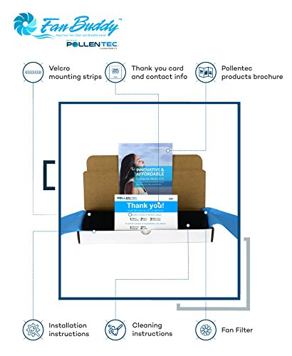 pollentec fan filter compatible with lasko model 4443 40'' hybrid tower fan  keeps your