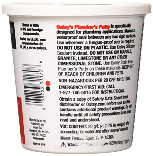 Oatey Plumber's Putty 3 lb  Plastic Container