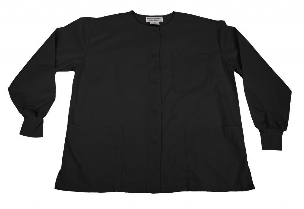Natural Uniforms Women's Warm Up Jacket (Black) (X-Large) (Plus Sizes Available)