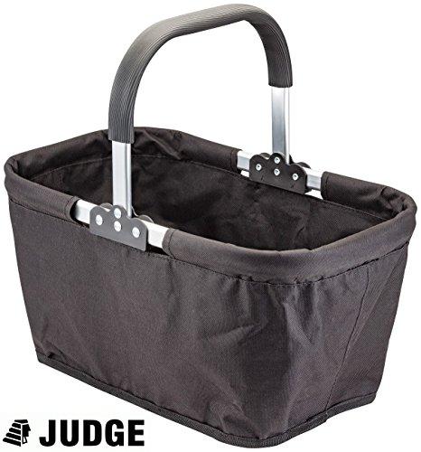Judge Foldable Collapsable Market Shopping Basket Carry Bag