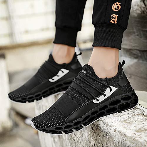 Trekking Basse Per Sneakers Uomo Da Training fbj Ginnastica Fitness Nero Casual Running Sportive Traspirante Corsa Scarpe Correre qF1S6Cxqw