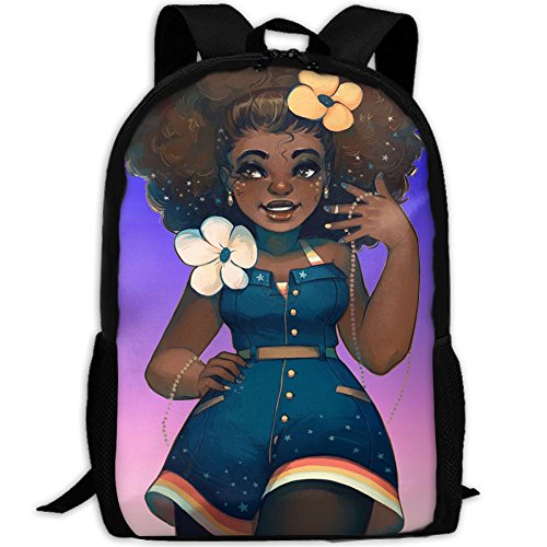 SARA NELL School Backpack African American Sexy Women School Bookbag Casual Outdoor Daypack Travel Bag For Teen Boys Girls College Student by SARA NELL