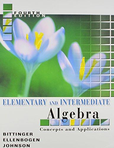 Elem& Intermed Alg&interactv Mathxl&tutr CT