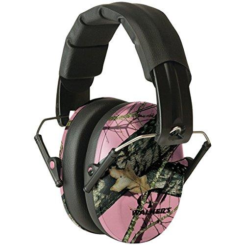 WALKERS GAME EAR GWP-FPM1-PKMO PRO Low-Profile Folding Muff (Pink/Mossy Oak Camo)