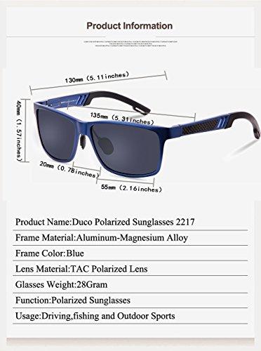 style polarisées sports pilote Bleu Duco 2217 Duccom Gris de Lunettes lunettes CqwEXfPX