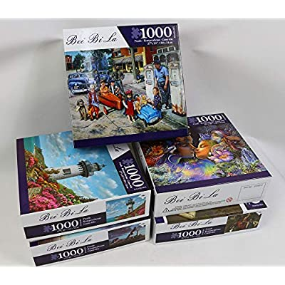 Jigsaw Puzzles 1000 Pieces for Adults Kids Floor Puzzle Intellectual Game Learning Decompression Toys Amalfi Coast Paper Jigsaw Puzzles: Toys & Games