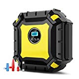 Shentec Portable Air Compressor Pump,Digital Auto Spare Tire Inflator with Gauge, Tire Inflator for Car, Bicycle, Bike, Motorcycle, RV, SUV, ATV, Truck, Basketball, Inflatable Mattress