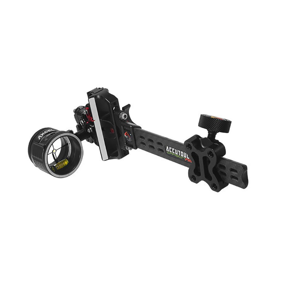 Axcel AccuTouch Carbon Pro Slider Sight w/AV-41 Scope - Single Pin - .019 w/Yellow Fiber