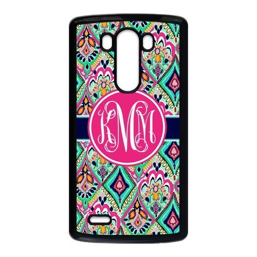 Hot Pretty Floral Jewels Monogrammed Luxury Cover Case For LG G3(Black) with Best Plastic ALL MY (Costum Naruto)