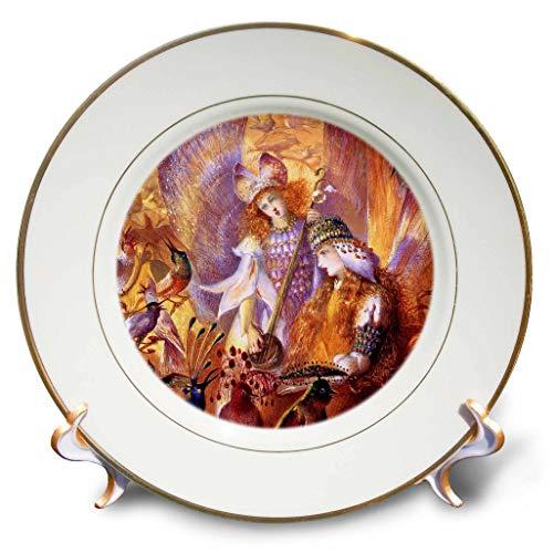 (3dRose VintageChest – Masterpieces - John Anster Fitzgerald - Fairyland - 8 inch Porcelain Plate (cp_302636_1))
