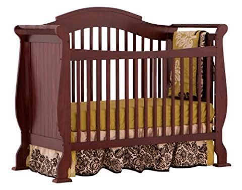 Stork Craft Valentia Convertible Crib, Cherry - Standard Height Cherry