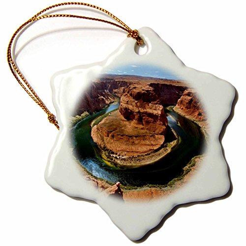 3Drose Usa  Arizona  Colorado River  Marble Canyon  Horseshoe Bend    Snowflake Ornament  Porcelain  3 Inch  Orn 189843 1
