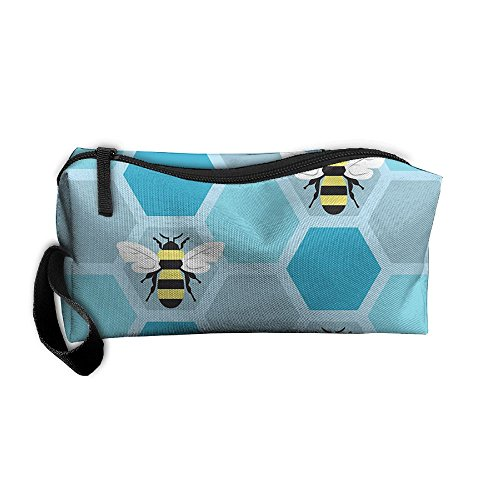 Portable Travel Storage Bags Bumblebee Clutch Wallets Pouch Coin Purse Zipper Holder Pencil Bag,kits Medicine And Makeup Bags ()