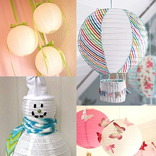 Sonnis Paper Lanterns 12'' 10'' 8'' 6'' Round lanterns for Birthday Wedding Baby Showers Party Decorations pink (12pack) by Sonnis (Image #6)