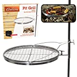Campfire Pit Grill - Open Fire Swivel Camping Grill with XL...