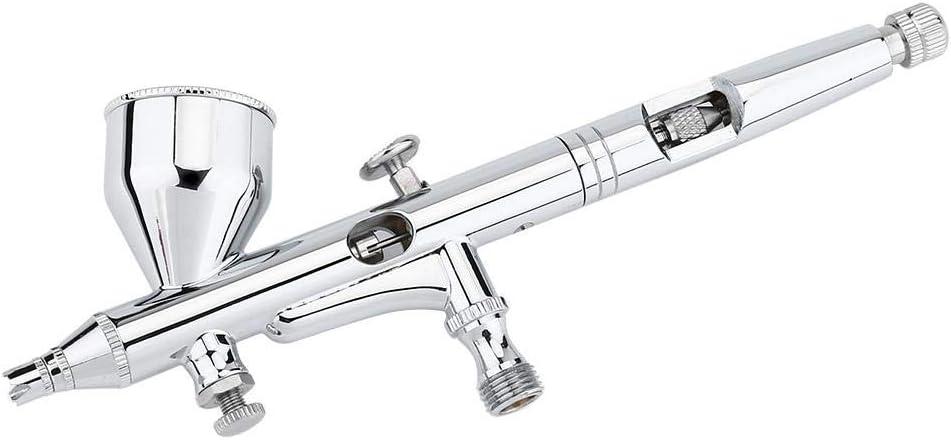 Kit de aerógrafo de doble acción, pistola de aerógrafo para pintura en aerosol para tarta, uñas, modelo de 0,2 mm, 0,3 mm, 0,5 mm