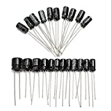 Aluminum Radial Leads Capacitor Assorted Assortment Box Kit Set of 500-16V 25V 50V Capacitor by Ltvystore Electrolytic Capacitors Kit Range 0.1uF-1000uF