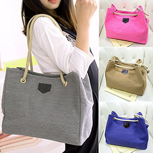 Canvas Women Grey Purse Messenger Hobo Shoulder Tote Bag Catnew Satchel Fashion Girl Handbag xBg7nUq