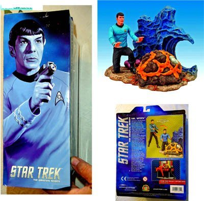 Star Trek The Original Series Mr. Spock Action Figure Set - Diamond Select Toys - Factory-Sealed UNCIRCULATED 7 Inch Tall Action Figure plus Accessories.
