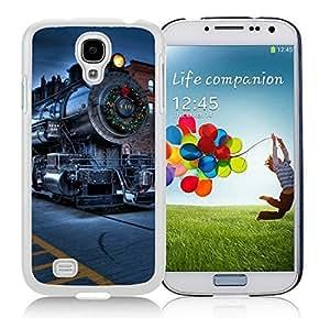 Custom Design Samsung S4 TPU Protective Skin Cover Christmas City Locomotive Railway White Samsung Galaxy S4 i9500 Case 1