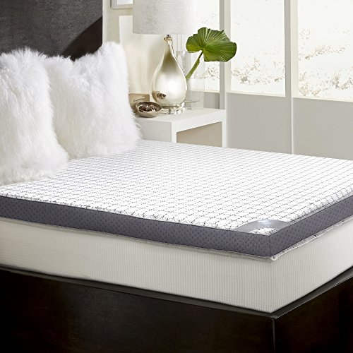 (MGM Grand Hotel MFT-408-6Q 3 inch Gel Memory Foam Mattress Topper)