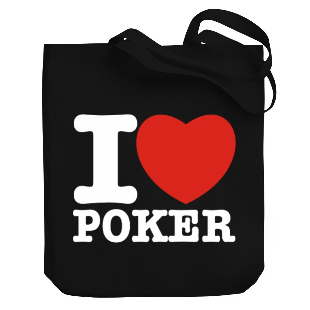 Teeburon I love Poker Canvas Tote Bag