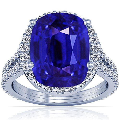 18K-White-Gold-Cushion-Cut-Blue-Sapphire-Ring-With-Sidestones-GIA-Certificate