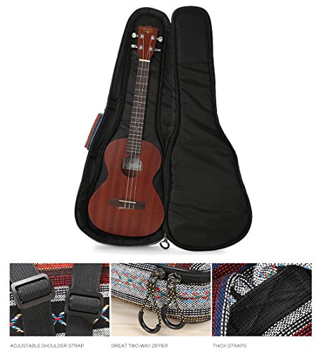 HOT SEAL 10MM Adjustable & Comfortable Durable Ethnic Ukulele Case Bag Bohemia style (23/24in, Bohemia NO.3) by HOT SEAL (Image #4)
