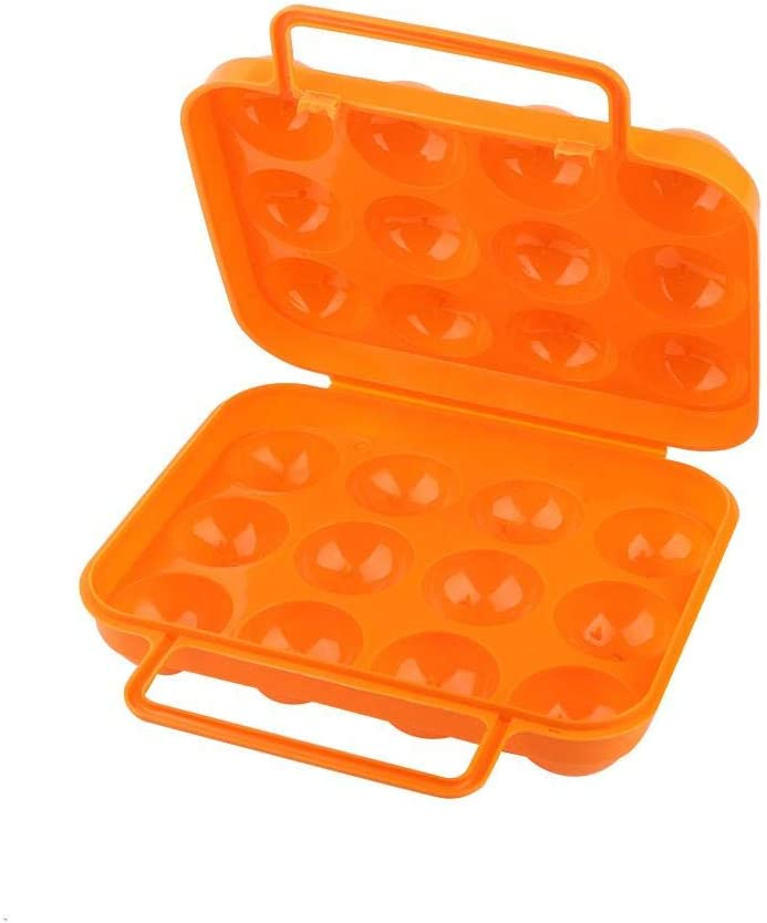 Double C/ôt/é En Plastique Porte-Oeufs Plateau 12 Grilles R/éfrig/érateur Oeuf Conteneur Oeuf De Stockage Organisateur En Plein Air Bo/îte De Rangement Des Oeufs Orange