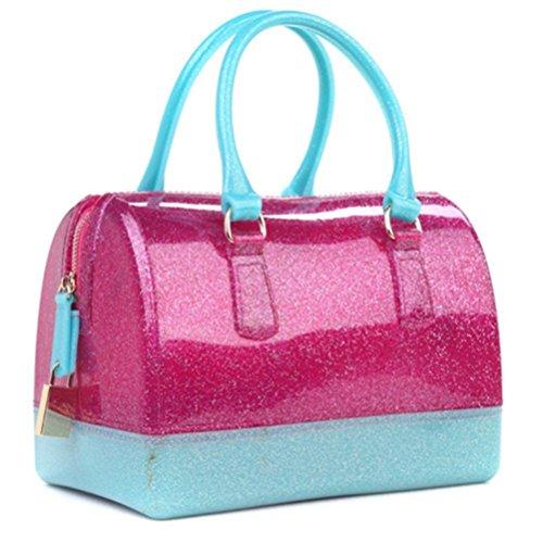 Oro trasparente Honeymall a Cuscino Candy mano Donna Cristallo forma Gelatina di Color Rosa Borse borse Impermeabile donna a Rqw1RWaA4P