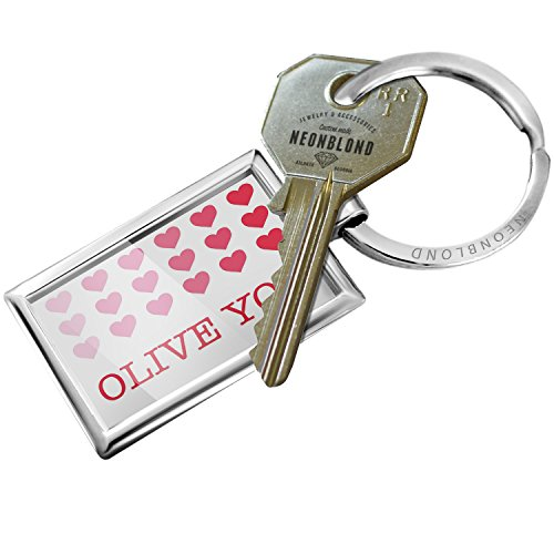 Gradient Olive (Keychain Olive You Valentine's Day Gradient Hearts - NEONBLOND)