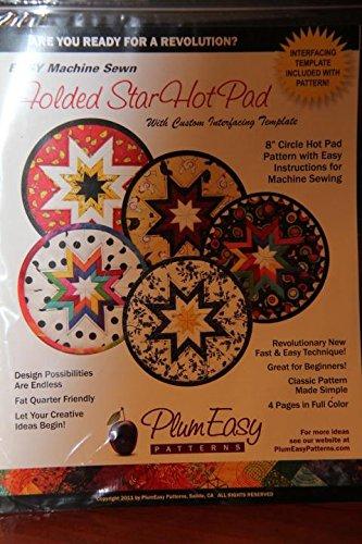 Folded Star Hot Pad With Custom Interfacing Templste - Interfacing Template Included With Pattern! - Plum Easy Paterns