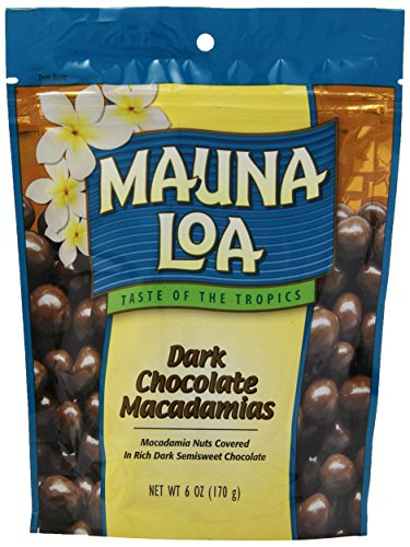 Mauna Loa Macadamias, Dark Chocolate, 6 Ounce Bag ()