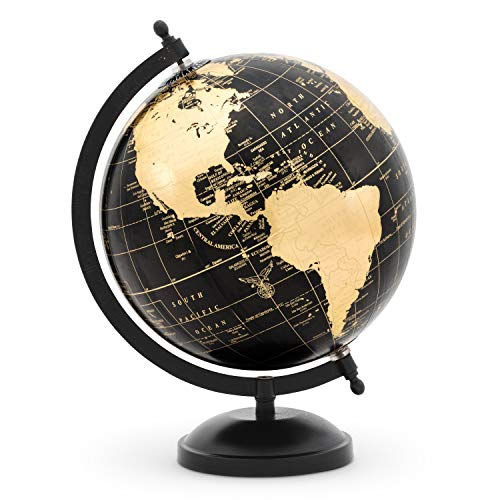 Abbott Collection 57-LATITUDE-10 Globe on Stand-Blk/Gold-11