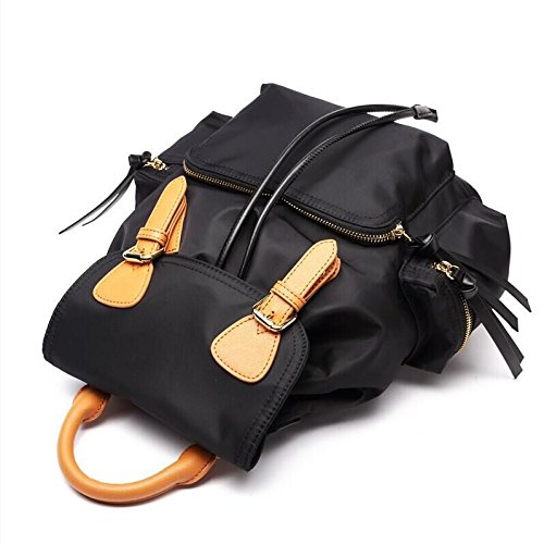for Purse Nylon Bag Water Women Deluxe Sheli Backpack School Large Black Girls Resistant xInYzfw1Fq
