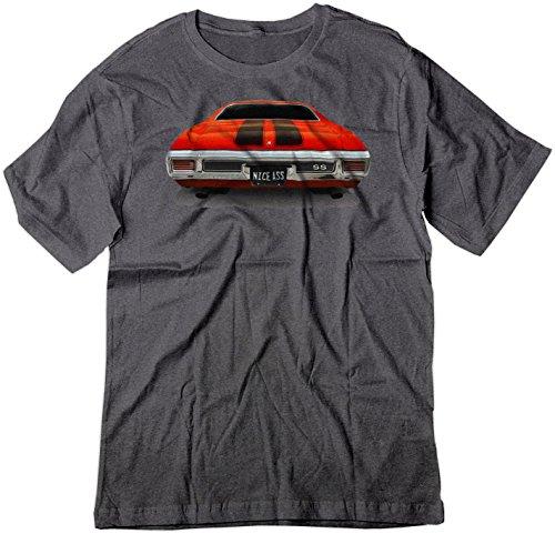 BSW Men's Nice Ass 1970 Chevrolet Chevelle SS Muscle Car Shirt 2XL Drk Heather