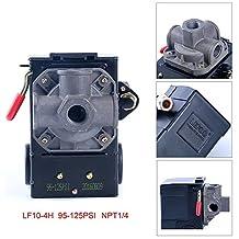 Lefoo Air Compressor Pressure Switch Control 95-125 PSI 4 Port w/ Unloader LF10-4H-1-NPT1/4-95-125