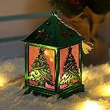 Longay LED Light Dolls House Villa Christmas Ornaments Xmas Tree Hanging Decor (Green)
