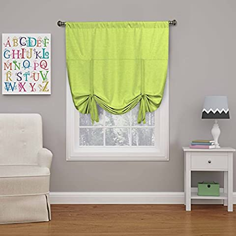 Eclipse 16170042X063LIM Kendall Tie Up Window Shade,Lime,42x63 (Eclipse 42x63)