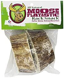 Chasing Our Tails Moose Flatastic Snack - 100% All Naturally Shed Moose Antler Chew. Cut From Flat Section of Antler. Small Size 1.25\