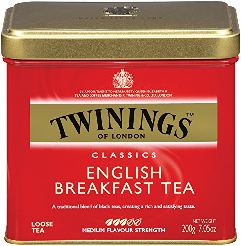 - Twinings of London English Breakfast Loose Tea Tins, 7.05 Ounces (Pack of 6)