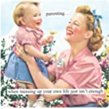 Anne Taintor Square Refrigerator Magnet, Parenting
