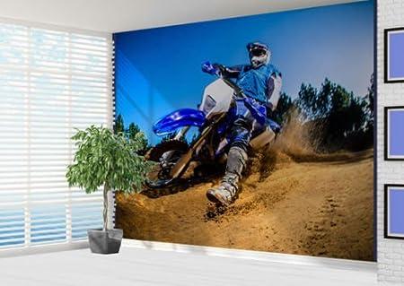 Dirt Bike Racer Motorbike Photo Wall Mural Motocross 2XL Amazon