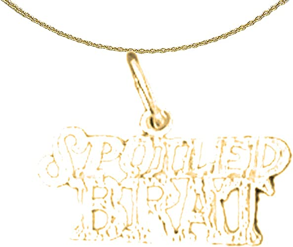 14K Yellow Gold-plated 925 Silver Best Mom Pendant with 16 Necklace Jewels Obsession Best Mom Necklace