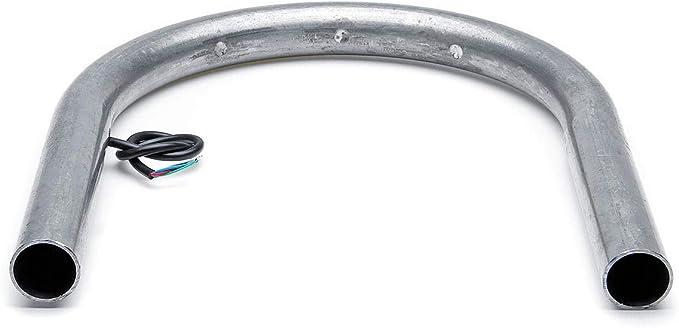 RENCALO Cadre de Support de Cerceau de si/ège arri/ère de Moto avec Clignotant pour Yamaha//Kawasaki//Suzuki-230mm