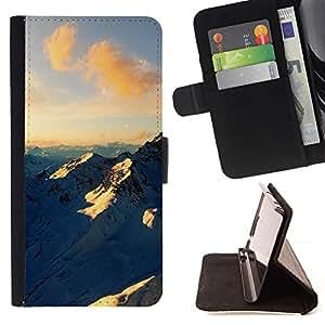 Momo Phone Case / Flip Funda de Cuero Case Cover - Montaña de nieve;;;;;;;; - Apple Iphone 6 PLUS 5.5